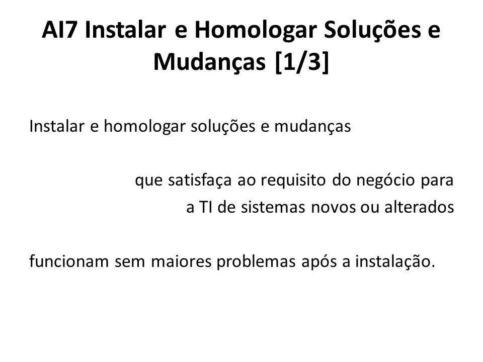 AI7 Instalar e Homologar Soluções e Mudanças [1/3]